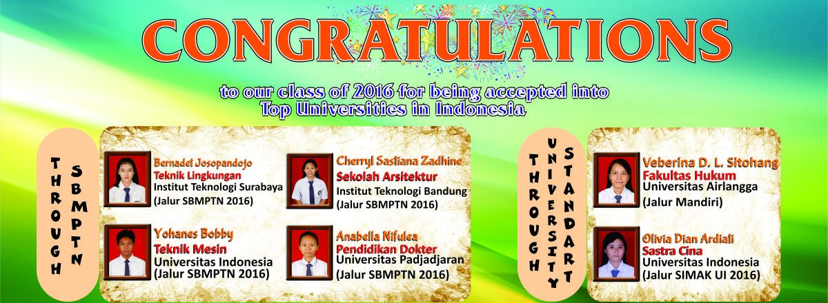 Congratulation University Website